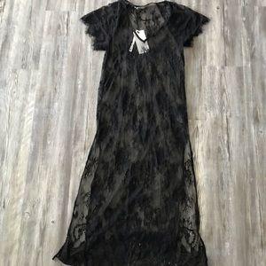 Black lace maxi NWT